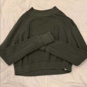 ac217cd0aa6 Hollister Olive Green Mock Neck Cropped Sweater